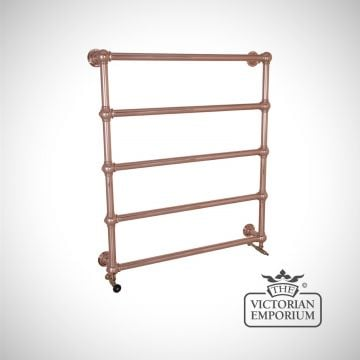 Grande Tall Wall mounted Heated Towel Rail 1300x1150mm in a chrome, nickel or copper finish