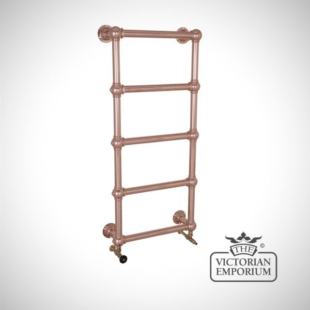 Grande Tall and Slim Wall Mounted Heated Towel Rail 1300x600mm in a chrome, nickel or copper finish
