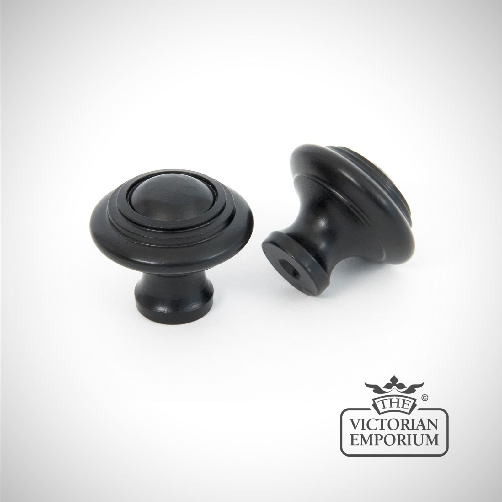Black Cabinet Knob With Circular Pattern Knobs