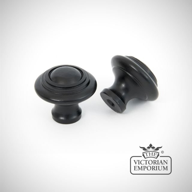 Black Cabinet Knob with circular pattern