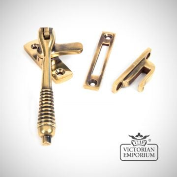Locking fastener in Aged Brass