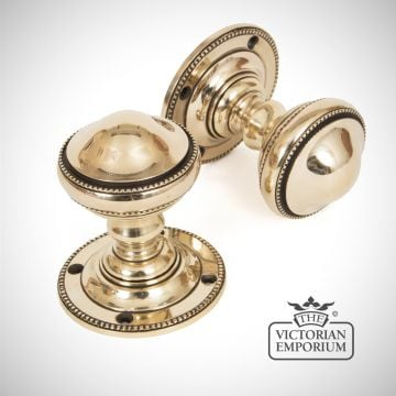 Brockley Mortice Knob Set in Aged Brass