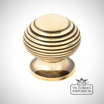 Antique Brass Beehive Cabinet Knob in a choice of two sizes