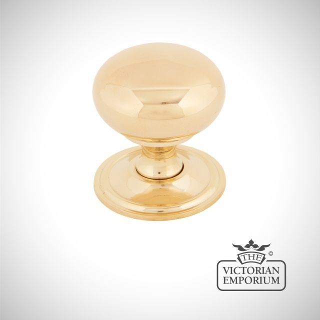 Polished Brass Mushroom Cabinet Knob in a choice of two sizes