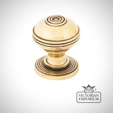 Pressbury Cabinet Knob in aged brass in a choice of two sizes