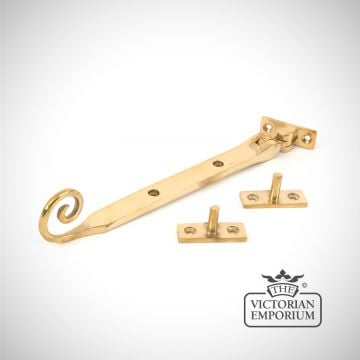 Polished Brass Monkeytail stay in a choice of 3 sizes
