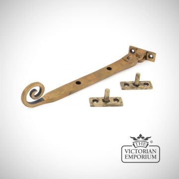 "Aged Brass Monkeytail Stay in a choice of 3 sizes - 8"", 10"", 12"""