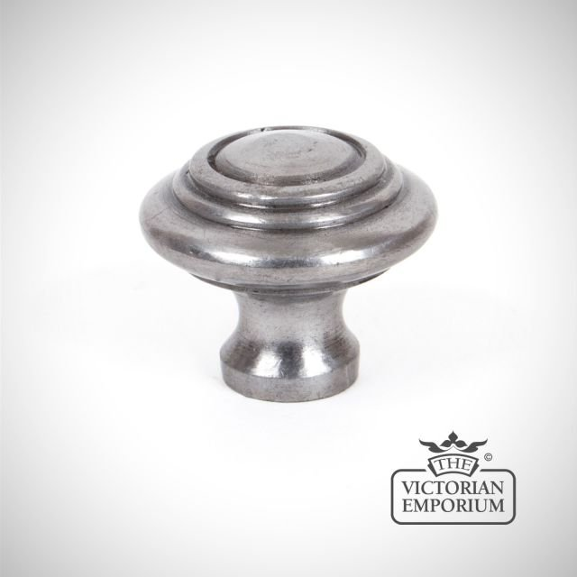 Pewter Cabinet Knob with circular pattern