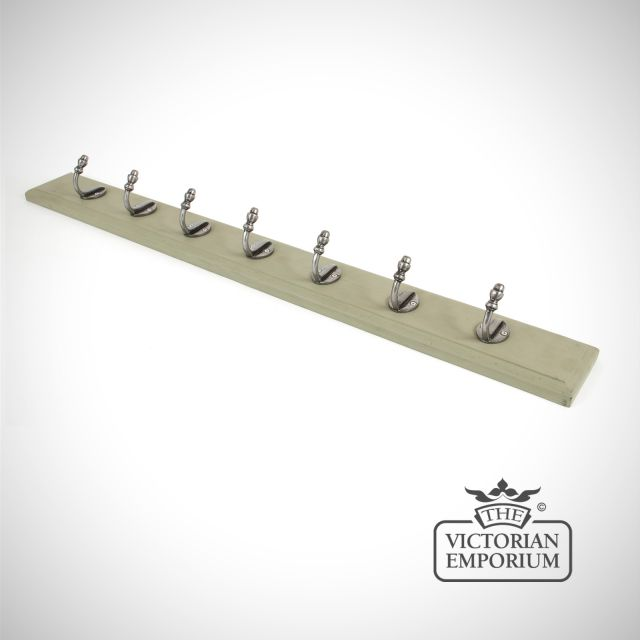 Coat rack with hooks and a choice of backplate colours