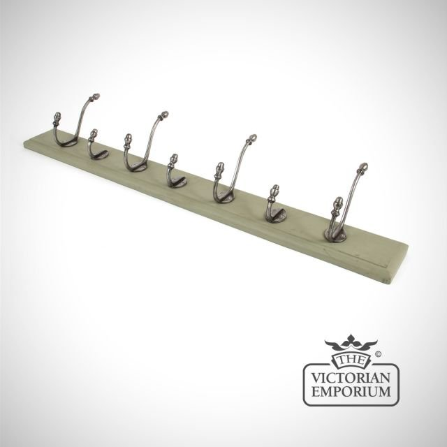 Hat and coat rack with hooks and a choice of backplate colours