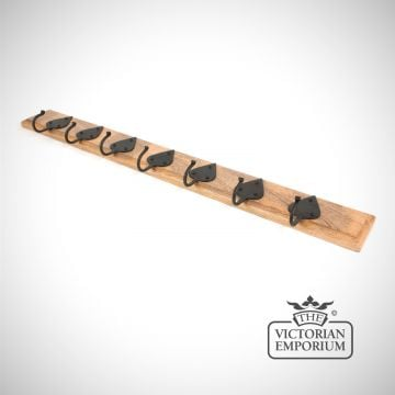 Cottage style coat rack with hooks