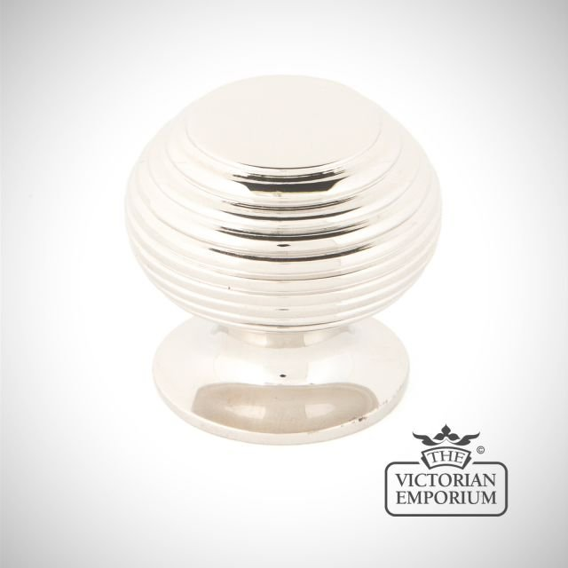Polished Nickel Beehive Cabinet Knob in a choice of two sizes