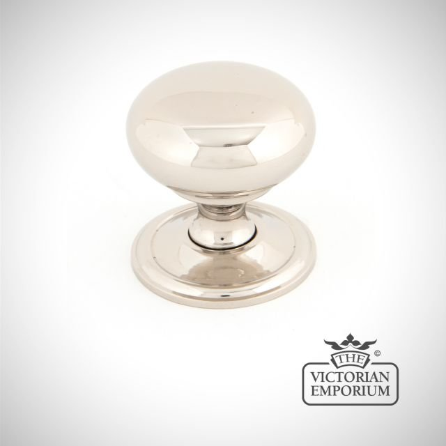 Polished Nickel Mushroom Cabinet Knob in a choice of 2 sizes