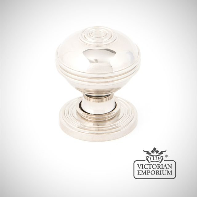 Pressbury Cabinet Knob in polished nickel in a choice of 2 sizes