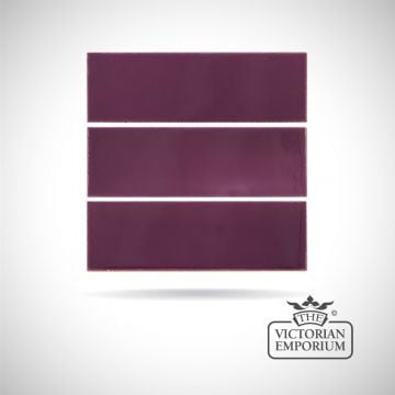 Deep Violet fireplace spacer tiles