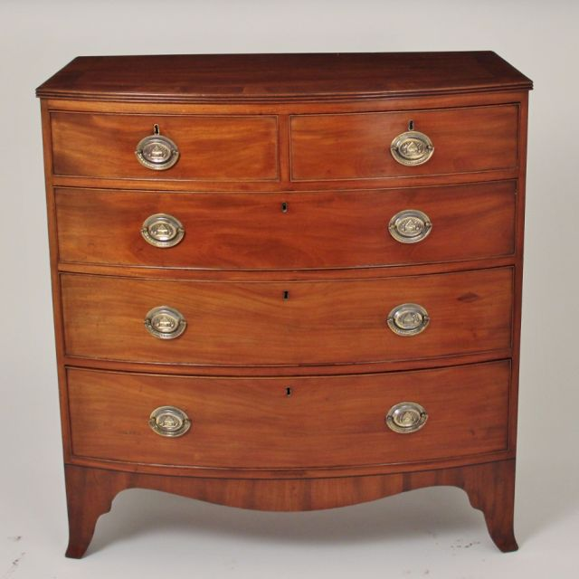 19th Century mahogany bowfront chest of drawers