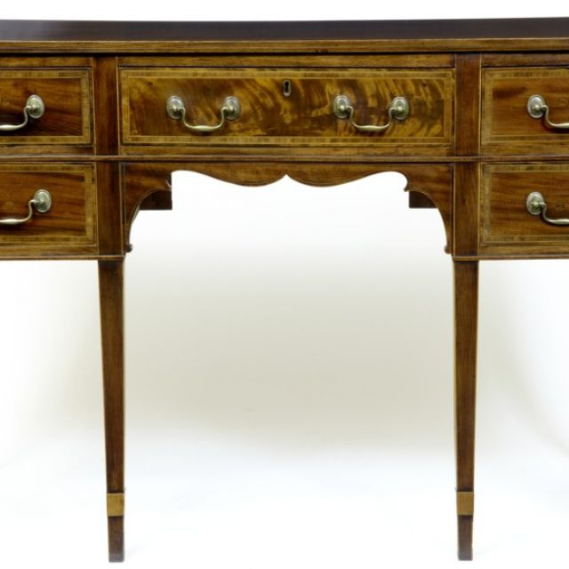 19th Century inlaid mahogany sideboard with secretaire drawer