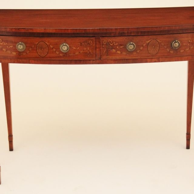19th Century inlaid satinwood serving table
