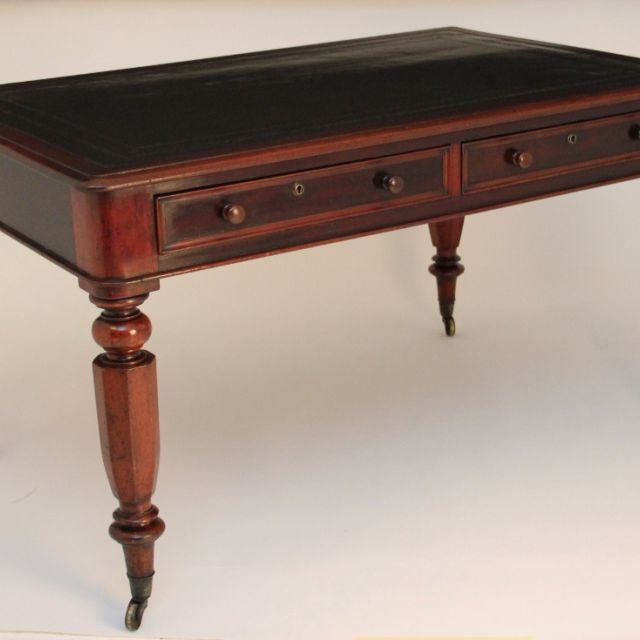 19th Century mahogany partners writing desk