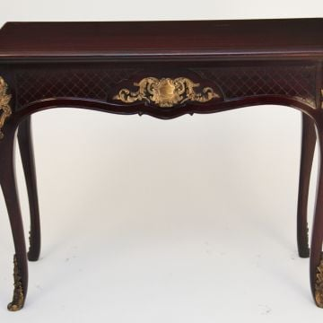 19th Century ormolu mounted mahogany centre table