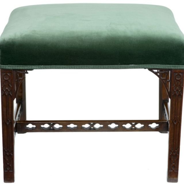19th Century mahogany foot stool