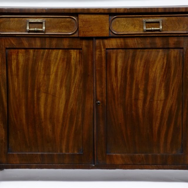 19th Century mahogany 2 door / drawer mahogany cabinet