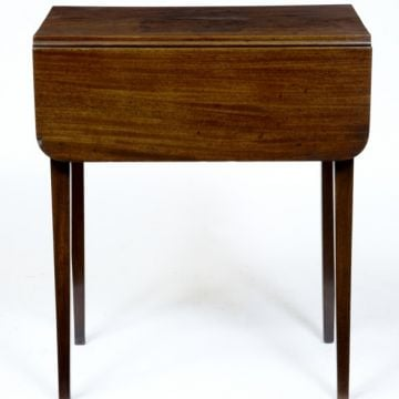 19th Century mahogany bedside table