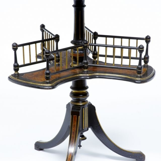 19th Century amboyna and ebony table