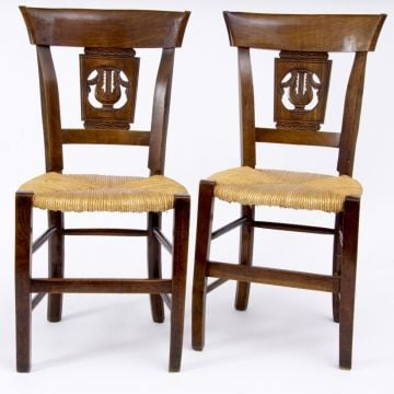 19th Century fruitwood chairs