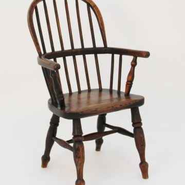 19th Century ash & elm child's Windsor chair
