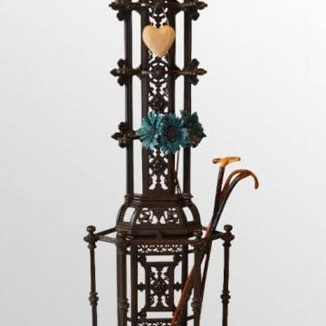 Superb 6' Tall Corner Stick Stand - Victorian Cast Iron