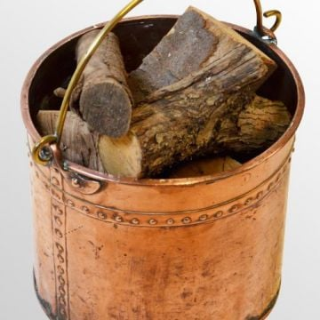 Lovely Copper Log & Coal Bin - Stamped DG