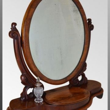 Oval Dressing Mirror - Original Glass