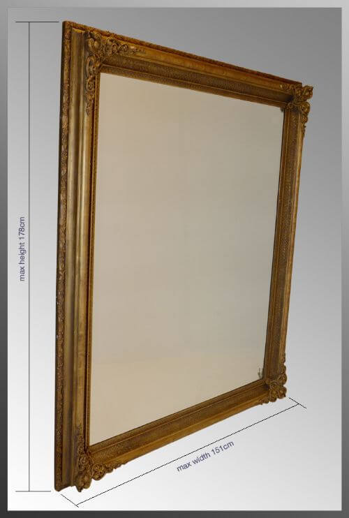 Huge Victorian Mirror Wide Bevelled Glass Mirrors