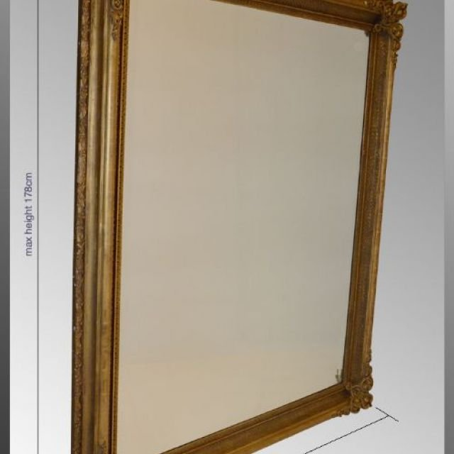 Huge Victorian Mirror – Wide Bevelled Glass