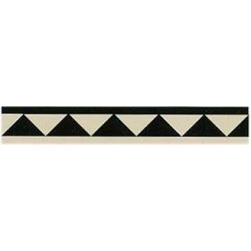 Victorian Border tiles - large dogtooth