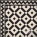 Olde English Double Dogtooth Border Geometric Floor Tile In Meter