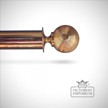 Reeded ball finial to go with 38mm, 51mm or 63mm brass pole