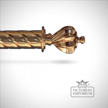 Twisted-pole-coronet-brass classical victorian pole-0000