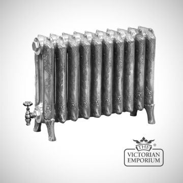 Radiator hand burnished effect