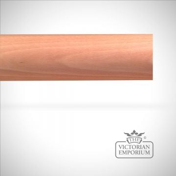 Plain circular traditional stained curtain pole (no finials) - 38mm or 51mm width