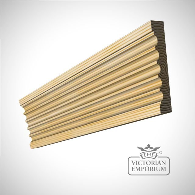 Reversed Fluted Moulding 91 X 20mm Trims Borders And