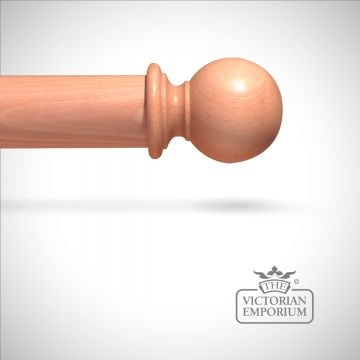 Plain ball finial to match stained curtain poles