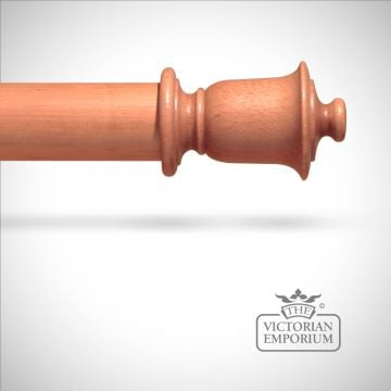 Traditional stained urn finial to match stained curtain poles