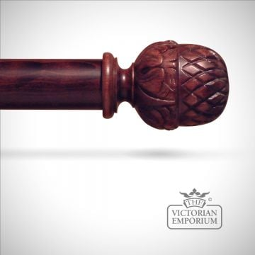 Traditional stained pomegranite finial to match stained curtain poles