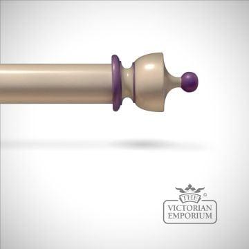Plainpole-vaseend-purple-highlights-hand decorated wood classical victorian pole-0000