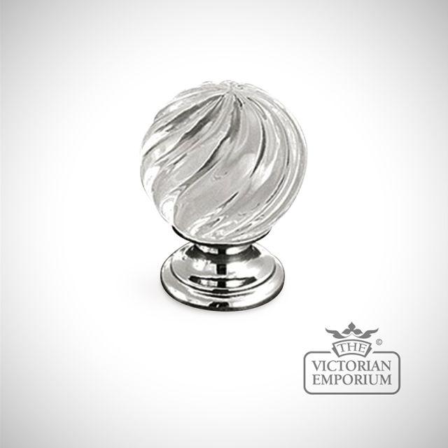 Swirl glass knob