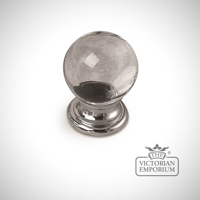 Plain glass knob
