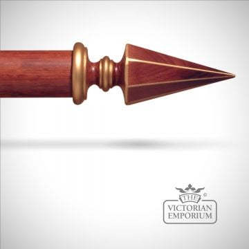 Traditional Wood Stained Curtain Poles and Finials