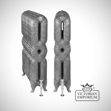 Tall Ornate Cast Iron Radiator 940mm high